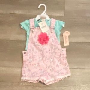 Little Lass Matching Sets - NWT little lass 2t baby girl pink overalls outfit